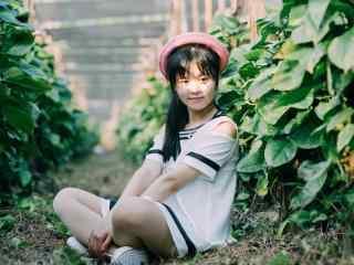 清纯校园美女田园可爱写真图片