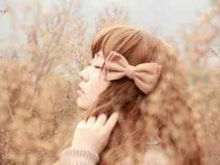 日系田园美女写真图片桌面壁纸