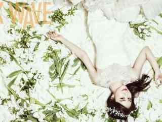 刘仁娜美艳婚纱照写真图片桌面壁纸