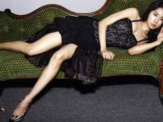 刘仁娜黑色性感写真图片桌面壁纸