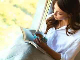 唯美看书女孩文艺图片壁纸