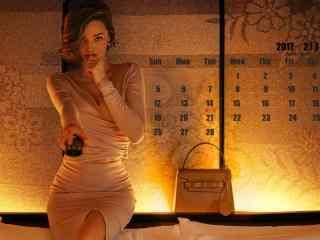 2017年2月日历之欧美名模米兰达可儿