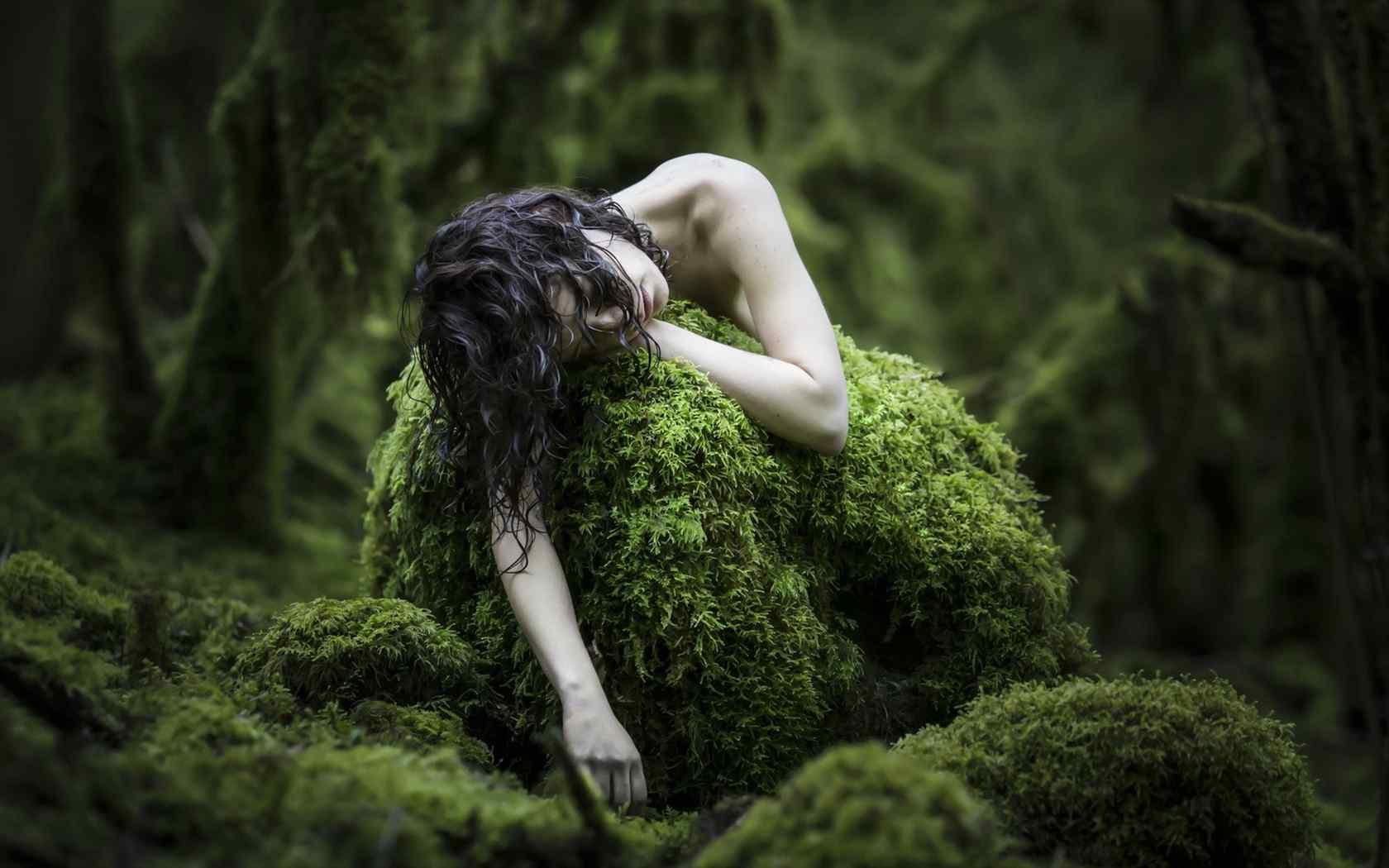 裸身美女小清新唯美写真图片