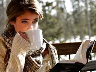 欧美美女的下午茶