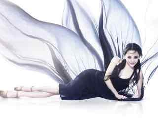 刘萌萌时尚黑裙写真图片