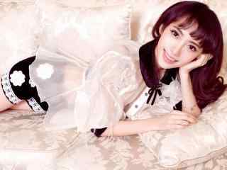 刘萌萌甜美写真图片壁纸