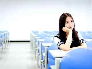 女生节-清纯校服美女校园壁纸