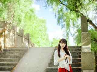 汉服改良版—清纯少女可爱桌面壁纸