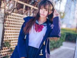 JK制服—可爱动人的美少女桌面壁纸