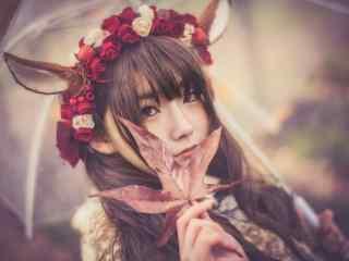 lolita洋装—少女甜美可爱的容颜桌面壁纸