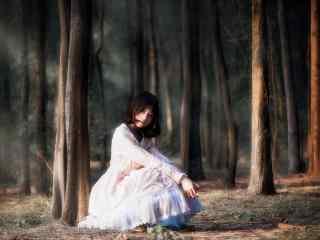 lolita洋装—清纯甜美的少女桌面壁纸