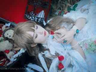 lolita洋装—沉睡在梦中的少女桌面壁纸