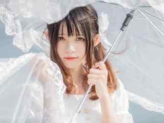lolita洋装—精灵少女花嫁桌面壁纸