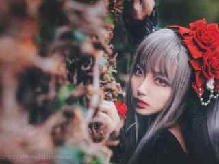 lolita洋装—漂亮的小姐姐桌面壁纸