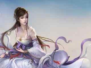 手绘古风美女性感美女图片