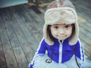 可爱甜美的小哈琳桌面壁纸