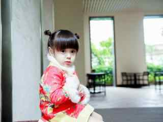 可爱的中国娃娃哈琳桌面壁纸