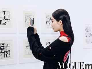 古力娜扎帅气时尚街拍桌面壁纸