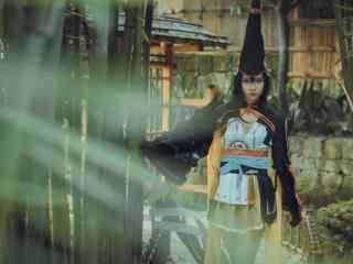 帅气美女cosplay妖刀姬桌面壁纸