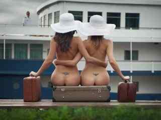 欧美性感裸背美女写真图片