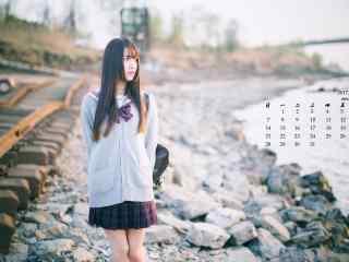 2017年5月小清新美女写真日历壁纸