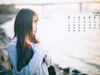 2017年5月日系美女写真日历壁纸