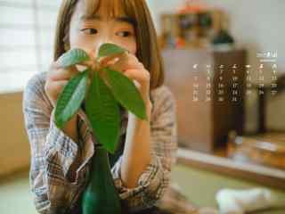 2017年5月文艺美女写真日历壁纸