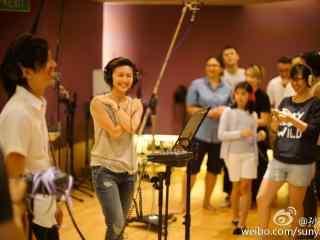 我想和你唱孫燕(yan)姿後台(tai)錄音照片(pian)