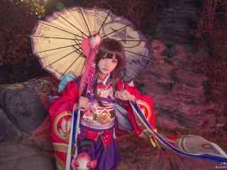 阴阳师神乐cosplay桌面壁纸
