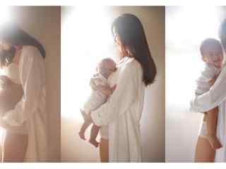母亲和孩子唯美写真图片壁纸