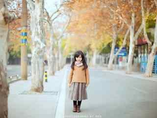 儿童节之可爱的小女孩桌面壁纸