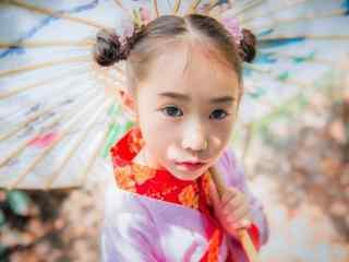 儿童节之汉服小美女桌面壁纸