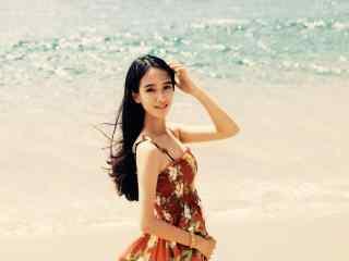 夏威夷沙滩小清新美女壁纸