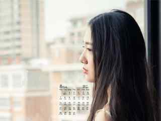 2017年8月日历清纯美女写真壁纸