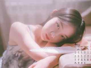 2017年8月日历美女清纯写真壁纸