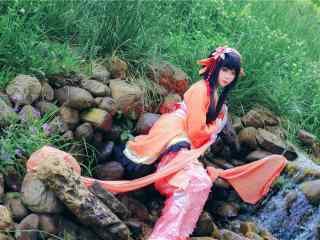 阴阳师鲤鱼精可爱cosplay壁纸