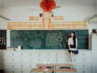 开学季之小清新校园美女壁纸
