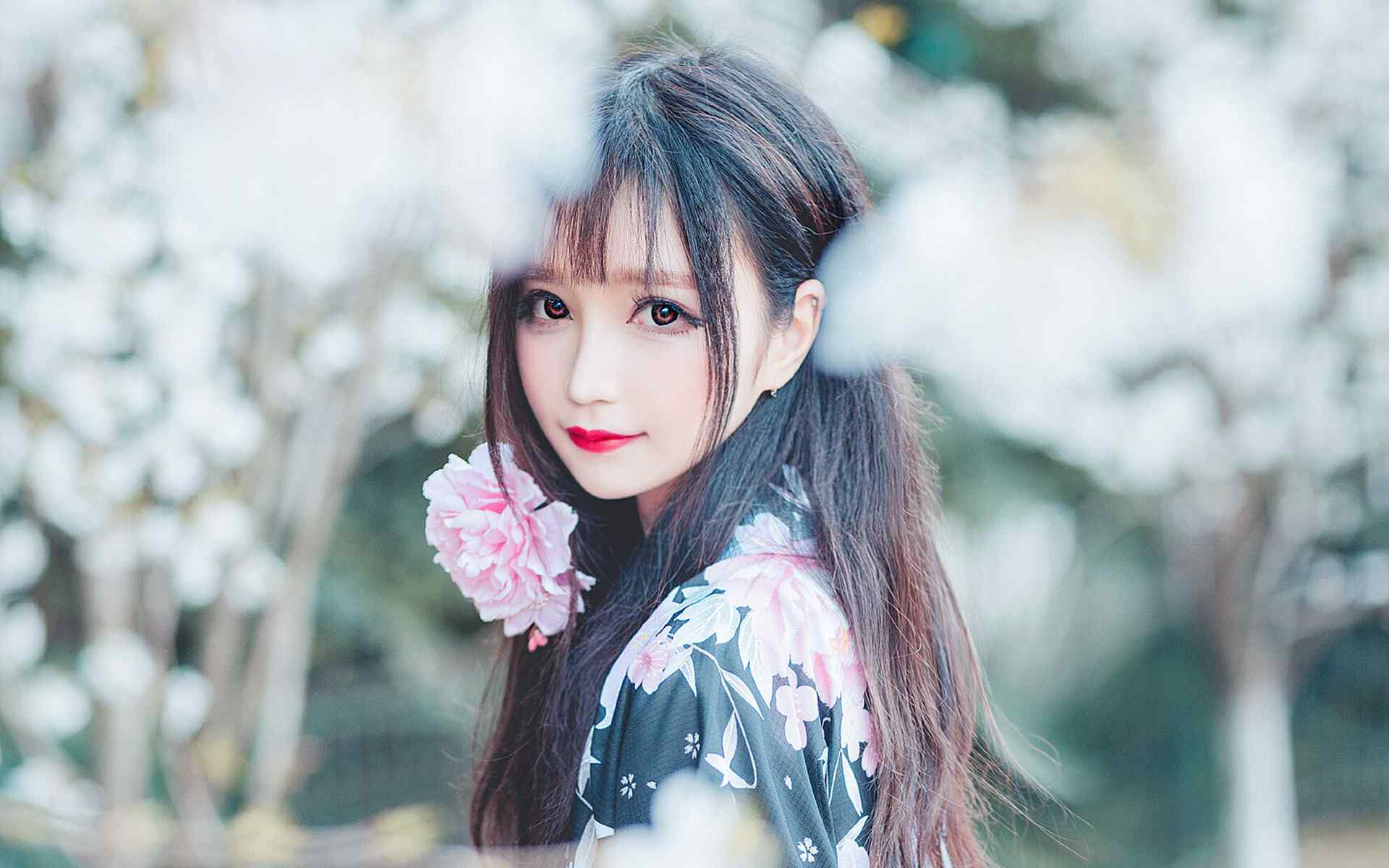 日本美女和服a和服大眼高清性感唯美壁纸美女壁会谁林大桌面最舞图片
