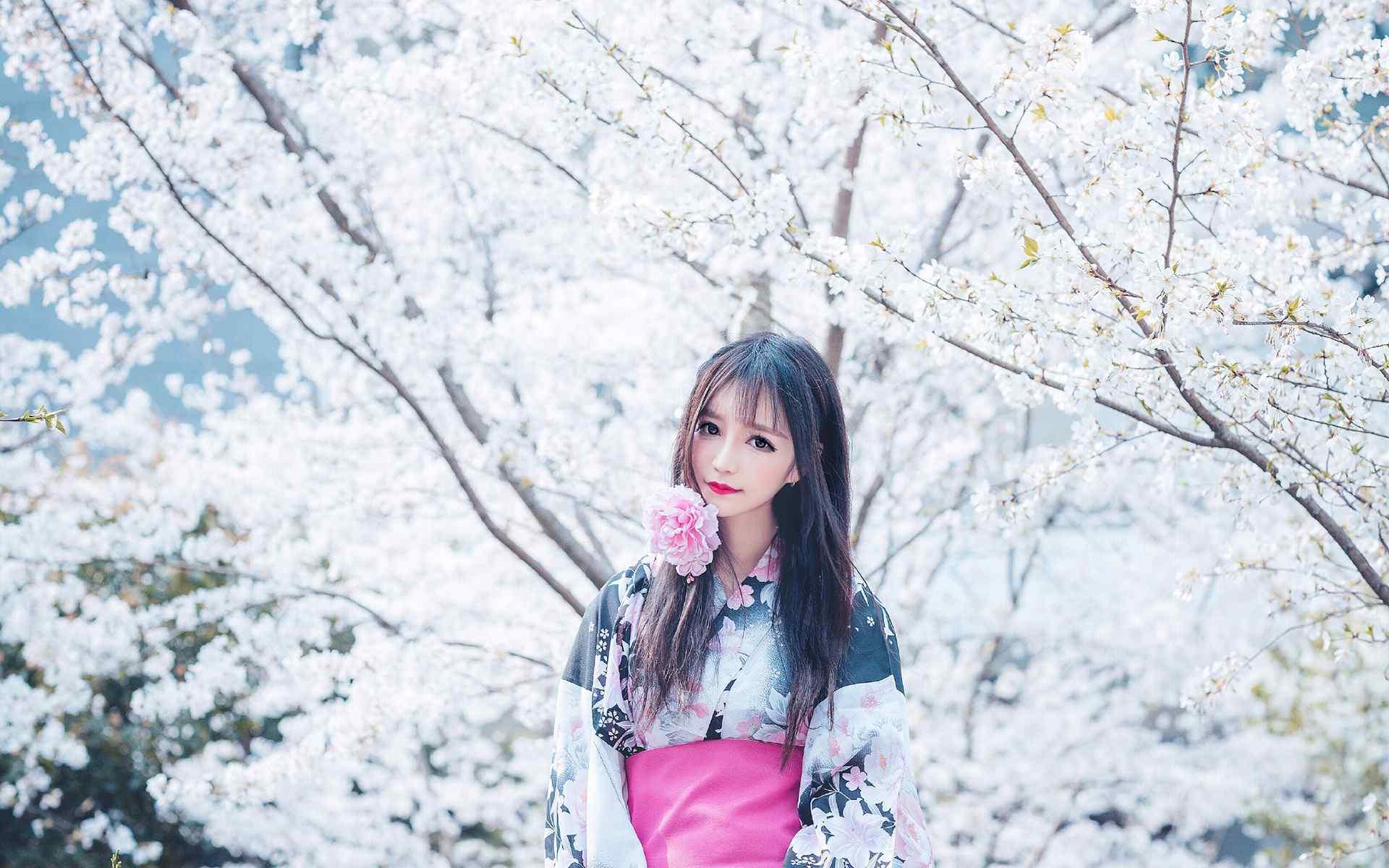 日本美女壁纸a壁纸大眼美女和服唯美高清儿童壁桌面性淋巴感染图片