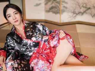日本美女壁纸性感和服美女妩媚高清桌面壁纸性感美腿美女制服艺术摄影极品诱惑