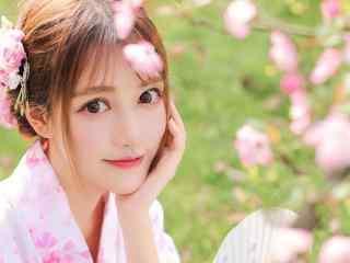 日本美女壁纸大眼睛灵动美女和服写真图片电脑壁纸性感美腿美女制服艺术摄影
