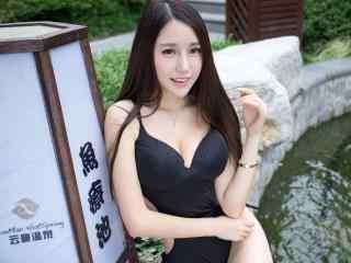性感美女壁纸刘奕宁Lynn温泉写真壁纸性感黑丝黑丝制服性感女郎性感少女