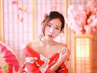 日本美女壁纸性感妩媚和服美女诱人写真图片桌面壁纸