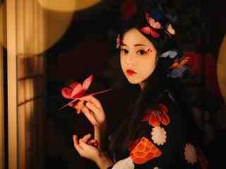 日本美女壁纸绝色美女日本和服诱人写真图片桌面壁纸