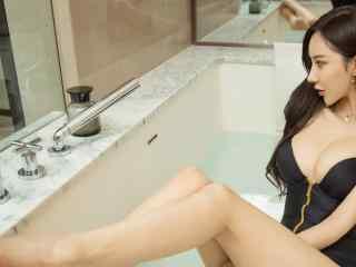 美女壁纸高清安柔浴缸写真美女壁纸美女4K壁纸黑丝制服性感女郎性感美腿美女制服艺术摄影