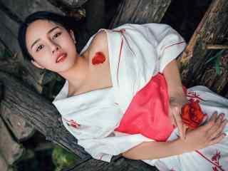 日本美女壁纸性感古装和服美女妩媚写真高清壁纸