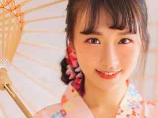 日本美女壁纸和服