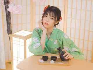 日本美女壁纸和服美女清新灵动写真图片桌面壁纸