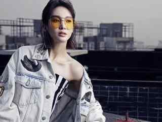 明星演员金晨时尚街拍写真高清图片桌面壁纸