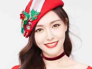 唐嫣优雅性感圣诞节写真壁纸图片